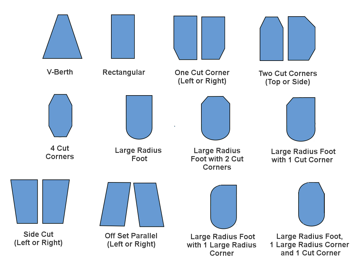 Custom yacht mattress shapes