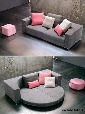 Nesting Round Sofa bed by Sergio Bicego for Saba Italia