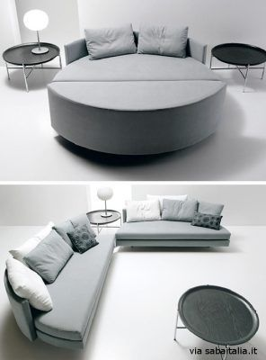Scoop Round Sofa Bed by Guido Rosati for Saba Italia